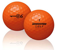 bridgestone e6 orange golf balls