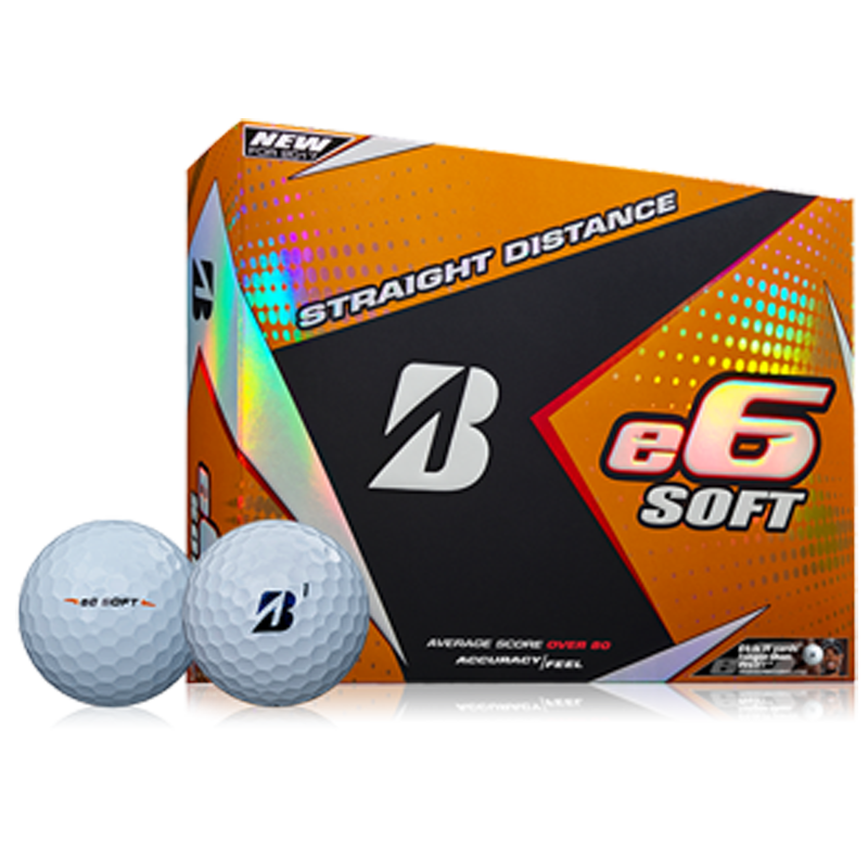 Bridgestone e6 Soft Golf Balls (1 Dozen) - White
