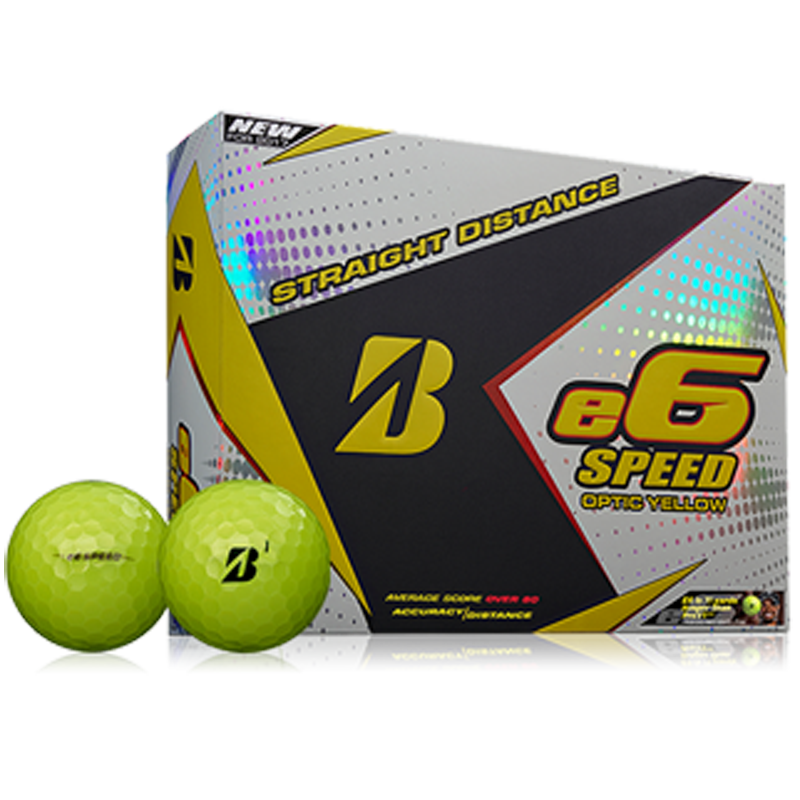 Bridgestone e6 Speed Golf Balls (1 Dozen) - Yellow