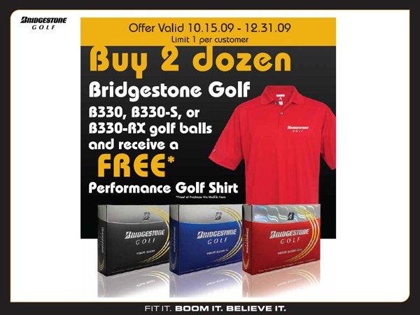 Bridgestone Golf Ball Promotion