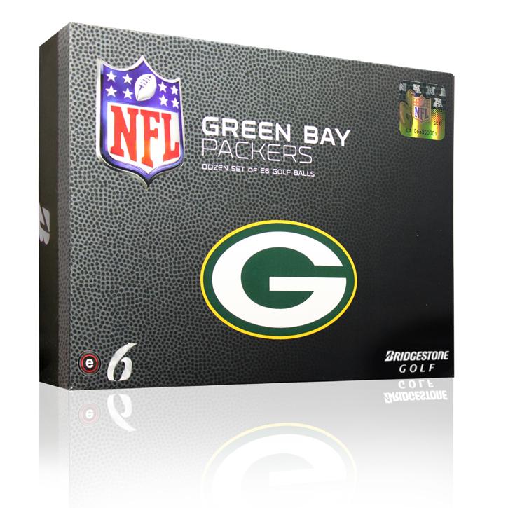 Bridgestone e6 NFL Golf Balls - Packers (6 Dozen)