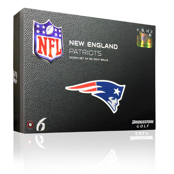 Bridgestone e6 NFL Golf Balls - Patriots (6 Dozen)