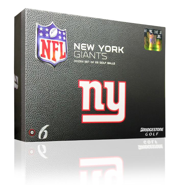 Bridgestone e6 NFL Golf Balls - Giants (6 Dozen)