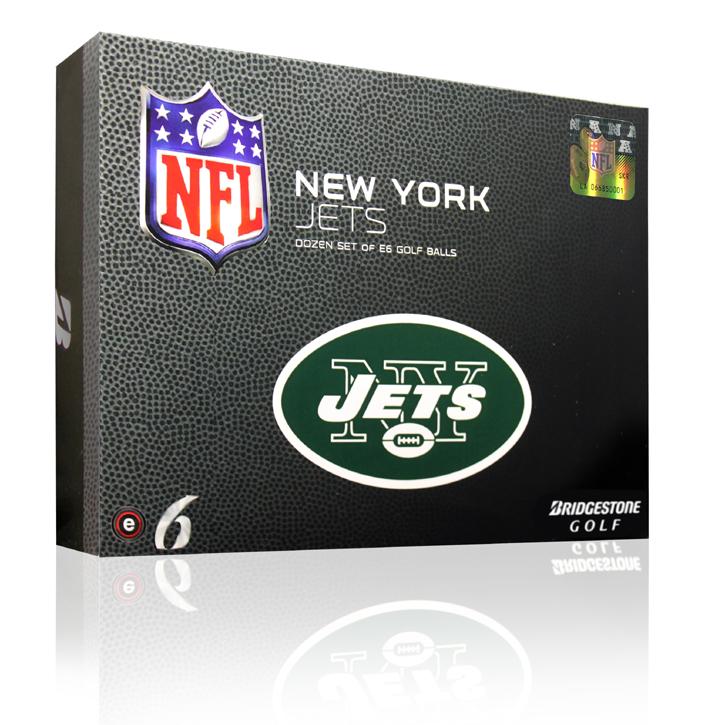 Bridgestone e6 NFL Golf Balls - Jets (6 Dozen)