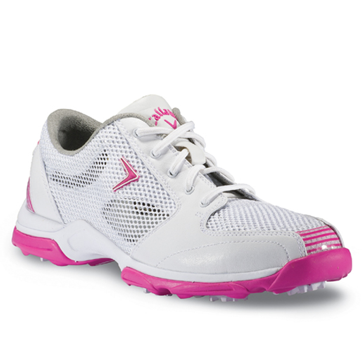 Callaway 2013 Solaire Golf Shoes - Womens White/Pink Image