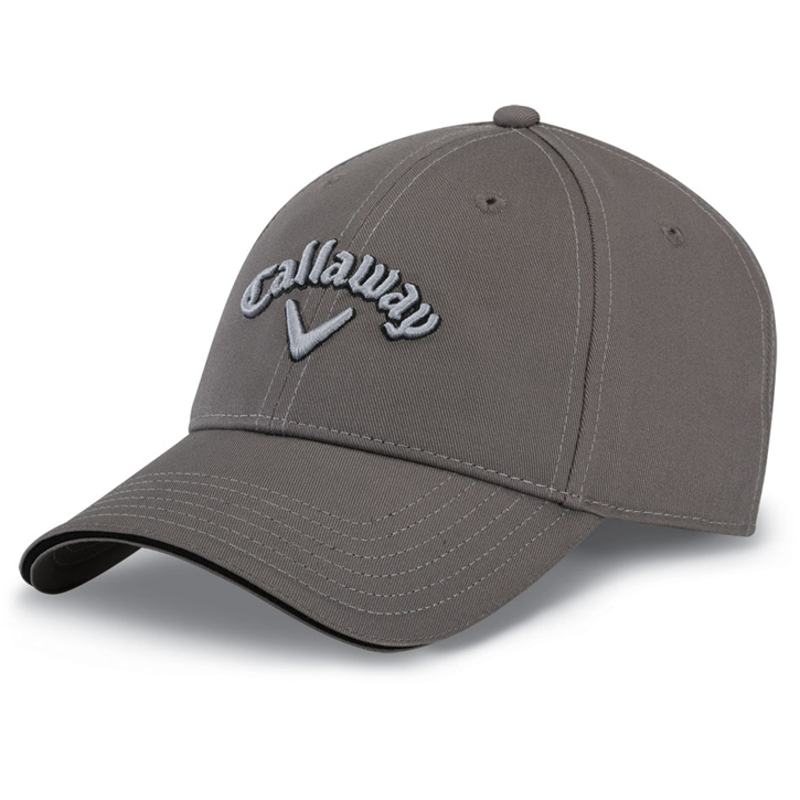 Callaway Sport Twill Golf Cap - Charcoal