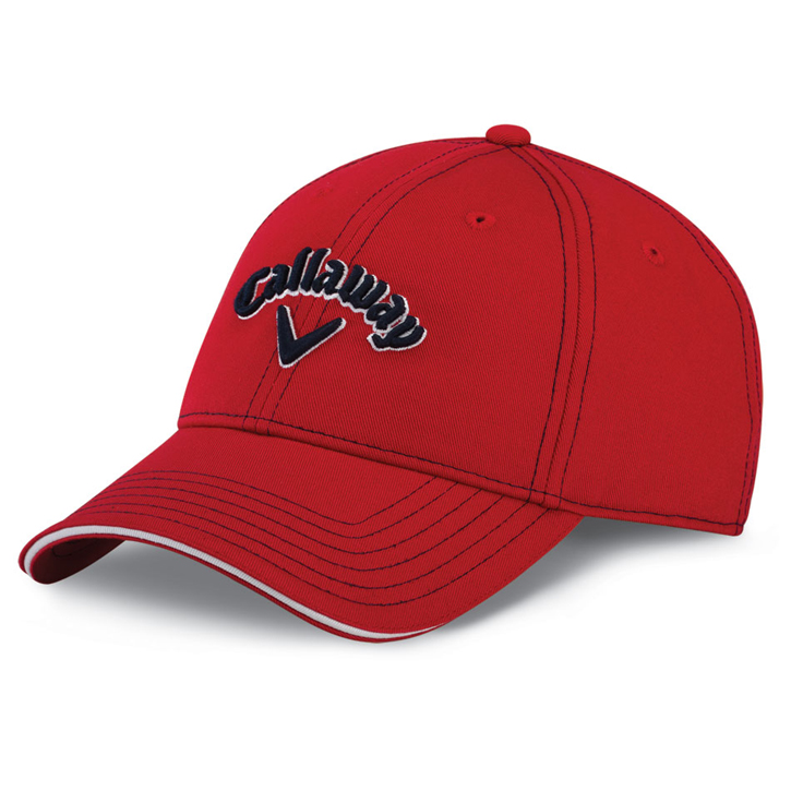 Image of Callaway Sport Twill Golf Cap - Red