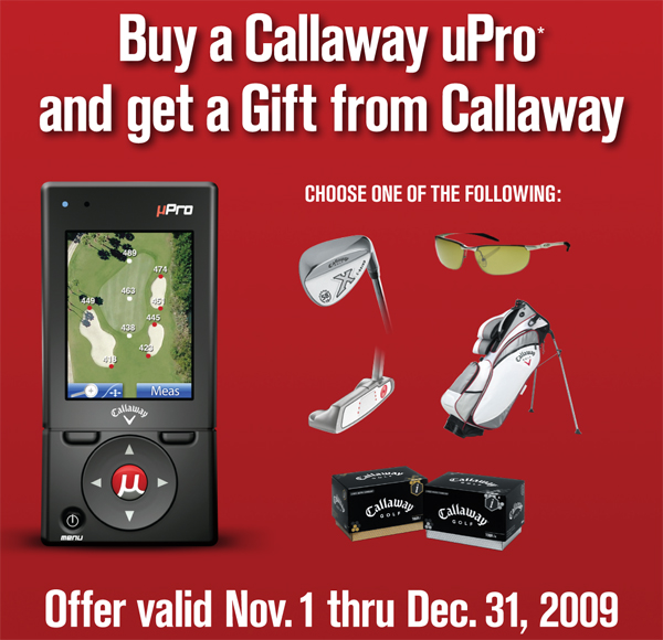 Callaway uPro Golf GPs Promotion