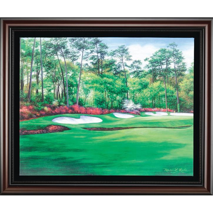 Augusta 13 - Azalea Framed Canvas