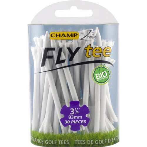 "Champ Zarma FLYTee Golf Tees - 3.25"" White (30 pack)"