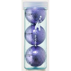 Chromax Metallic Golf Ball 3 Pack - Purple