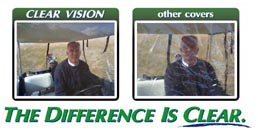 clear vision golf cart cover visibility