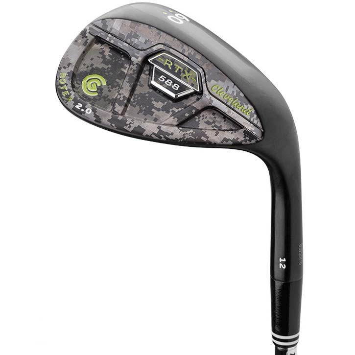 Cleveland 588 RTX 2.0 Black Satin CB Wedge - Custom Edition - 60* Camo Lime Green