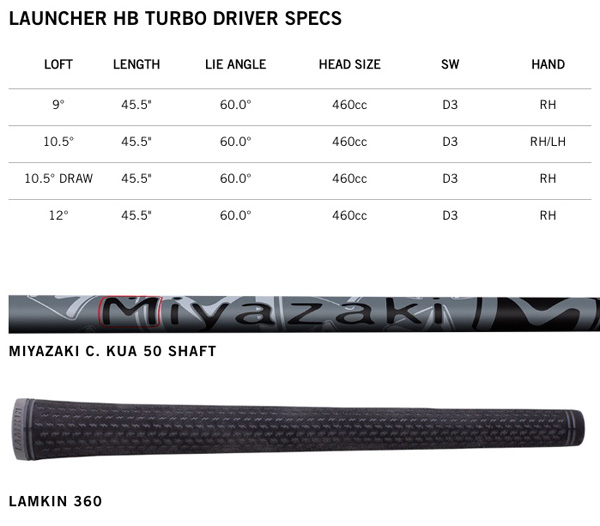 cleveland Golf Launcher HB Turbo Driver Specifications