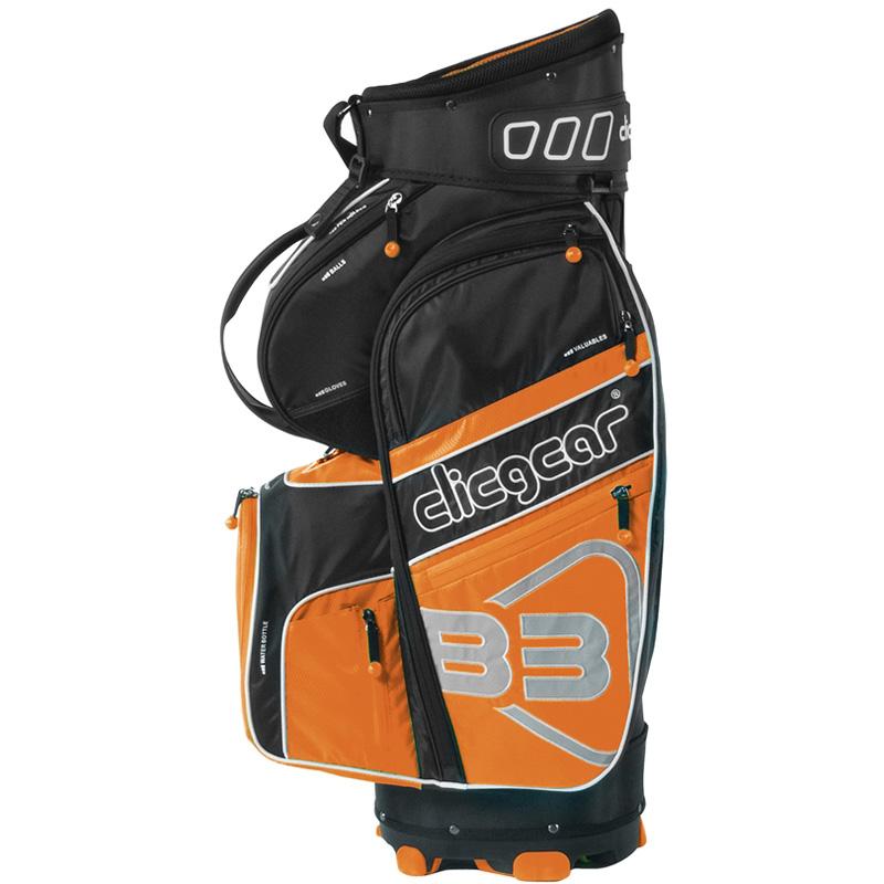 2016 Clicgear B3 Cart Bag - Black/Orange