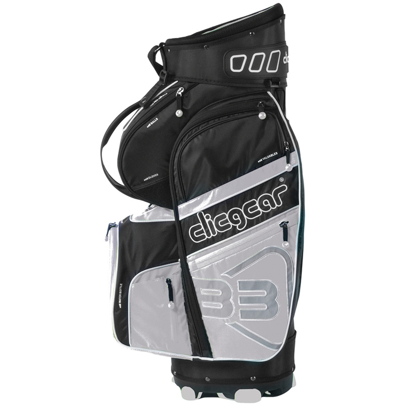 2016 Clicgear B3 Cart Bag - Black/Silver