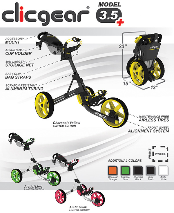 clicgear 3.5 golf push cart