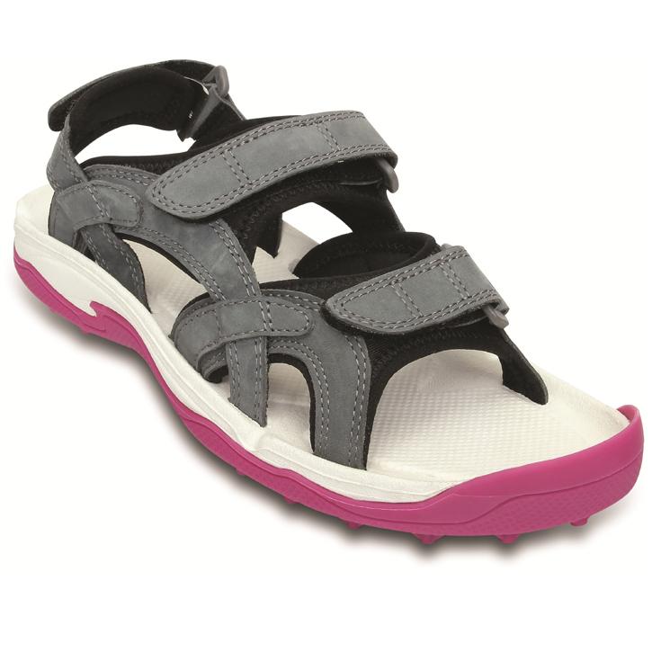 Crocs XTG LoPro Golf Sandal - Womens Charcoal/Fuchsia