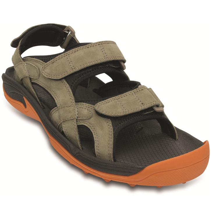 Crocs XTG LoPro Golf Sandal - Mens Walnut Pumpkin