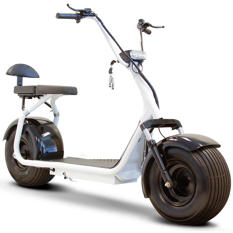 eWheels EW-08 Fat Tire Electric Scooter - White