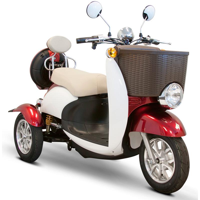 eWheels EW-11 Sport Electric 3-Wheel Scooter - Red/White