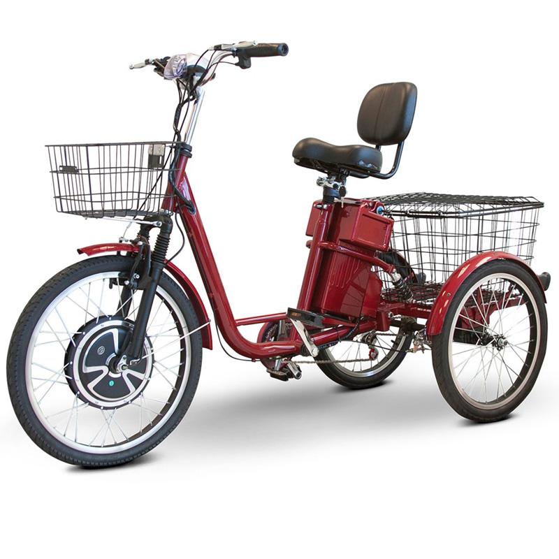 eWheels EW-29 Electric Adult Trike - 3 Wheel Electric Bicycle - Red