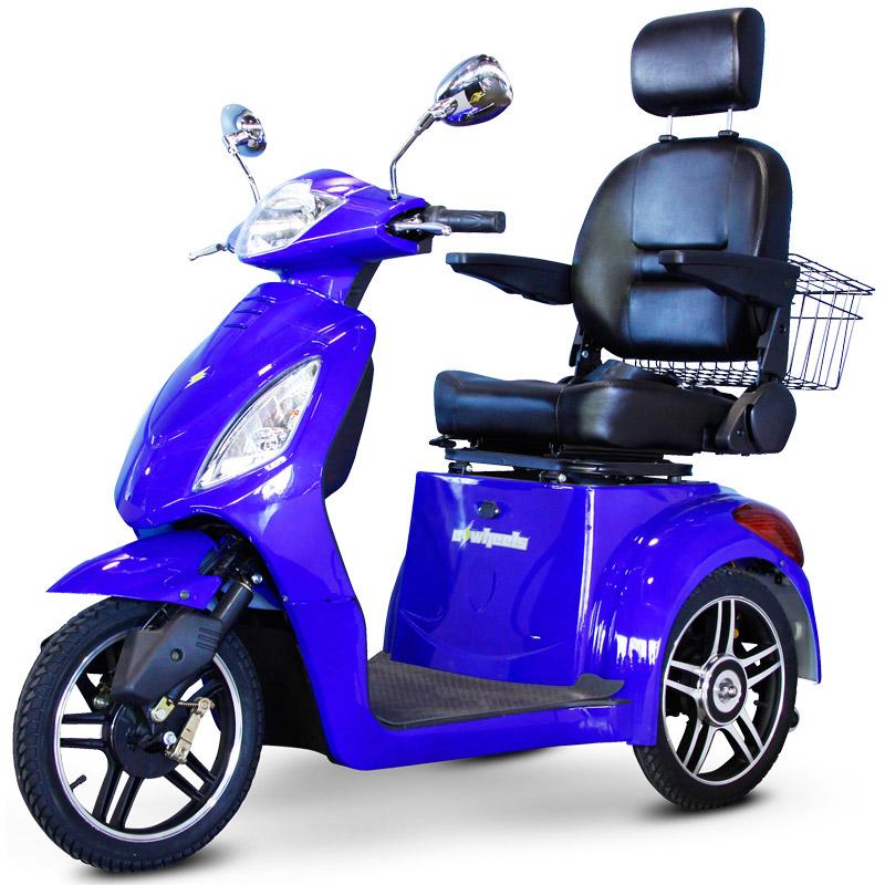 eWheels EW-36 Electric 3-Wheel Mobility Scooter - Blue