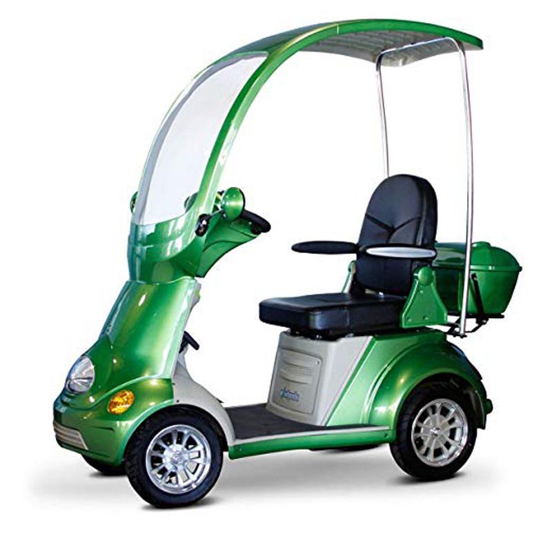 eWheels EW-54 Covered 4 Wheel Electric Scooter - Green