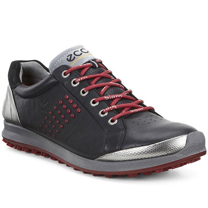 Ecco Biom Hybrid 2 Golf Shoes - Mens Black/Brick