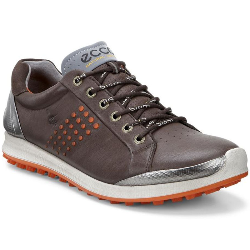 Ecco Biom Hybrid 2 Golf Shoes - Mens Mocha/Fire