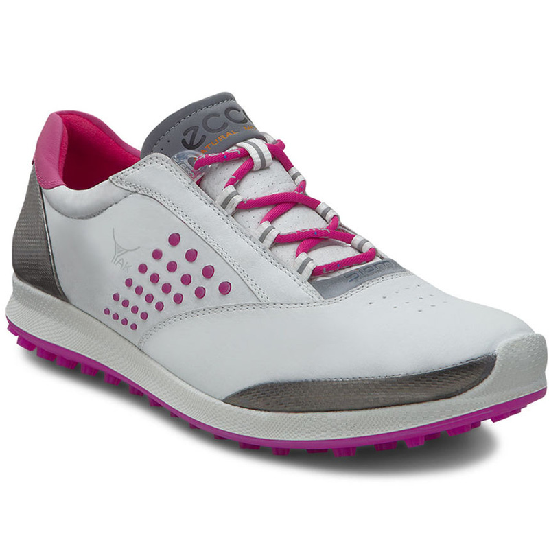 Ecco Biom Hybrid 2 Golf Shoes - Womens White/Candy