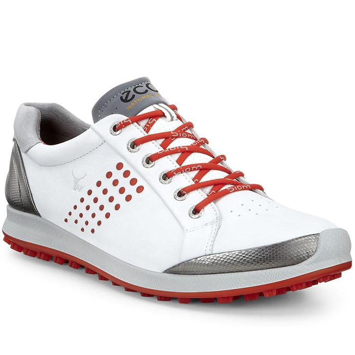 Ecco Biom Hybrid 2 Golf Shoes - Mens White/Fire