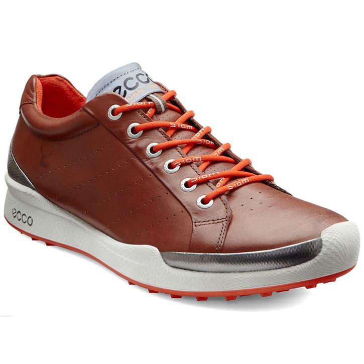 Ecco Biom Hybrid Golf Shoes Mens Mahogany Fire At