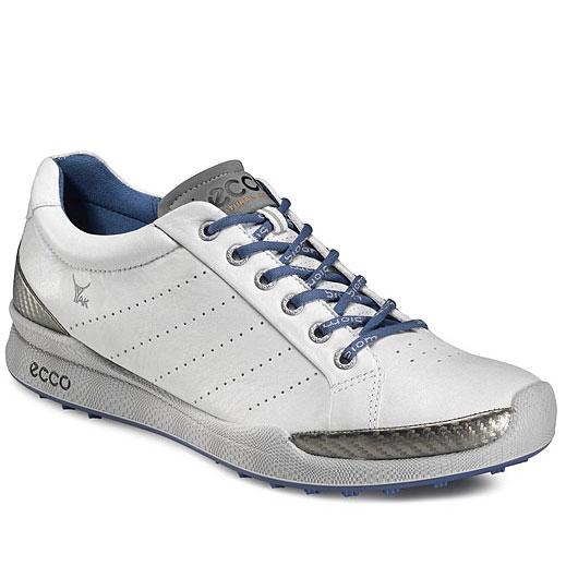 ecco biom hybrid golf shoes mens white royal at