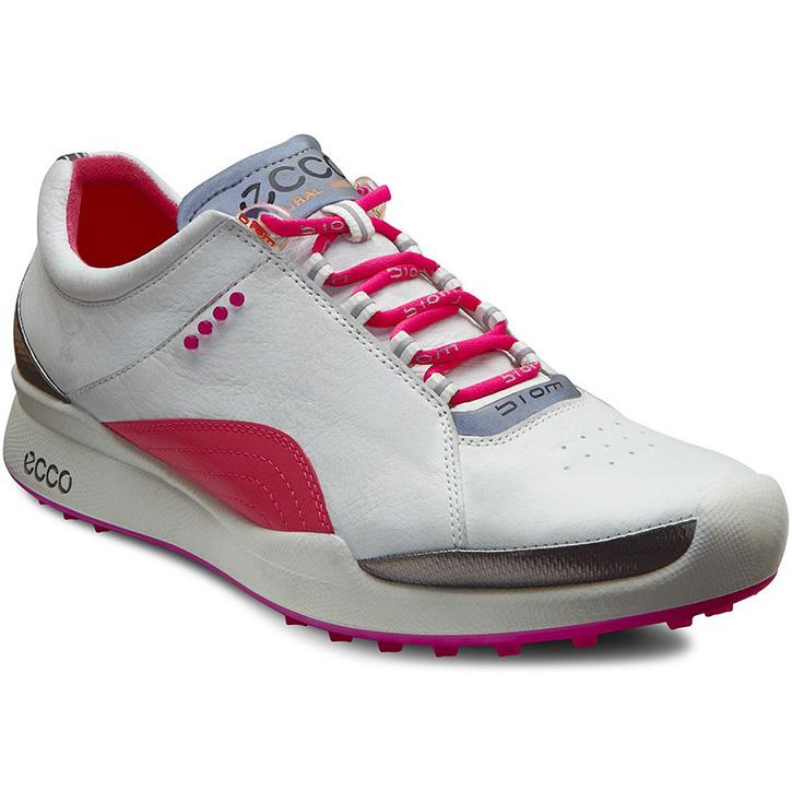 Ecco Biom Hybrid Lace Golf Shoes - Womens White/Fandango