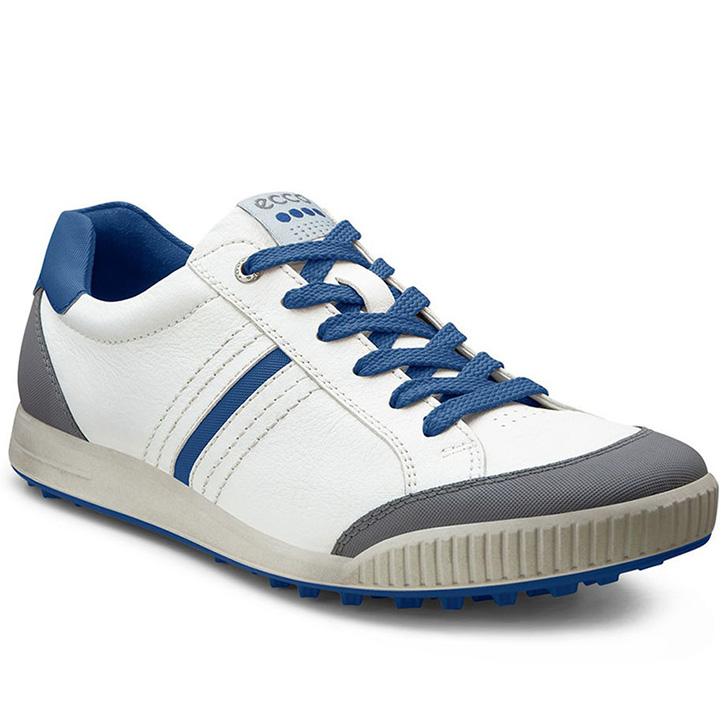 Ecco Street Retro Golf Shoes - Mens White/Royal
