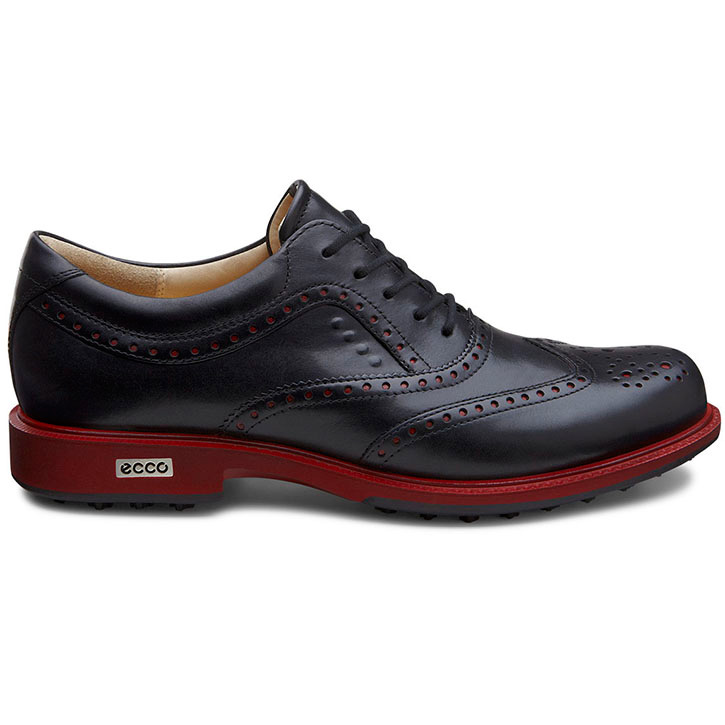 Home > Ecco Tour Hybrid Wingtip Golf Shoes - Mens Black/Brick