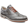 Ecco Tour Hybrid Wingtip Golf Shoes - Mens Grey/Orange