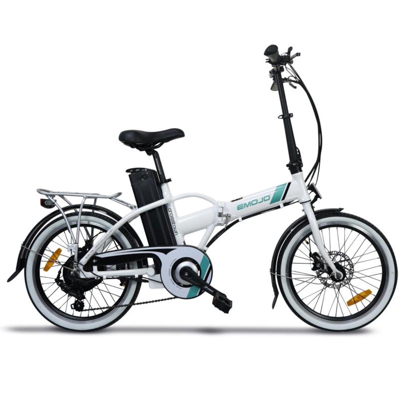Emojo Crosstown Electric Folding Bike - Black/White
