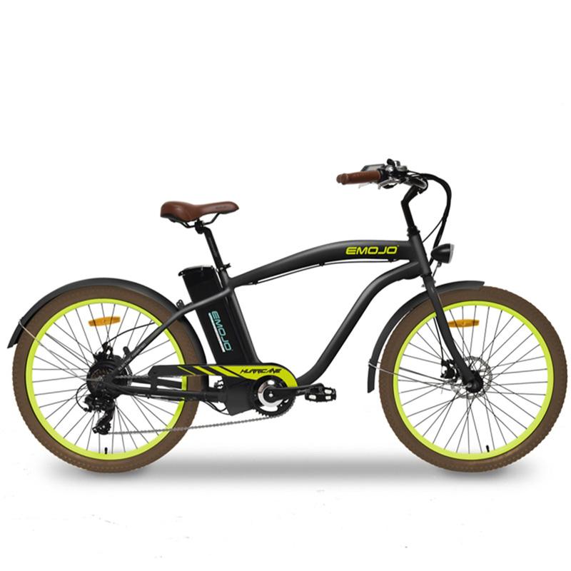 Emojo Hurricane Electric Cruiser Bike - Black