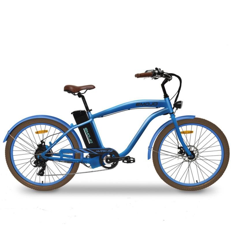 Emojo Hurricane Electric Cruiser Bike - Blue