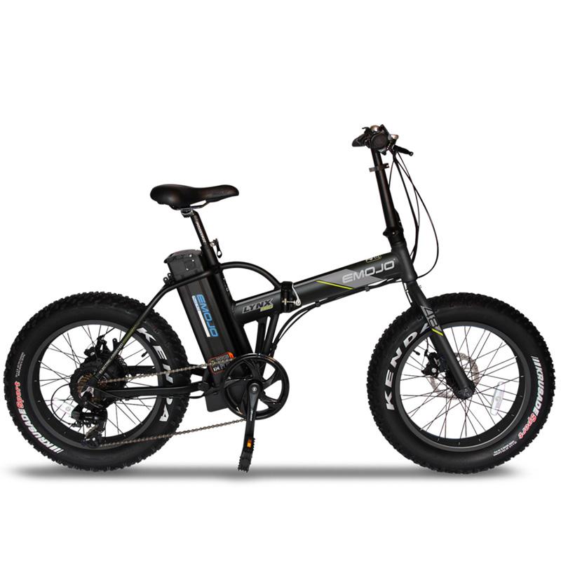 Emojo Lynx Pro Folding Electric Bicycle 48V 500W - Black/Black