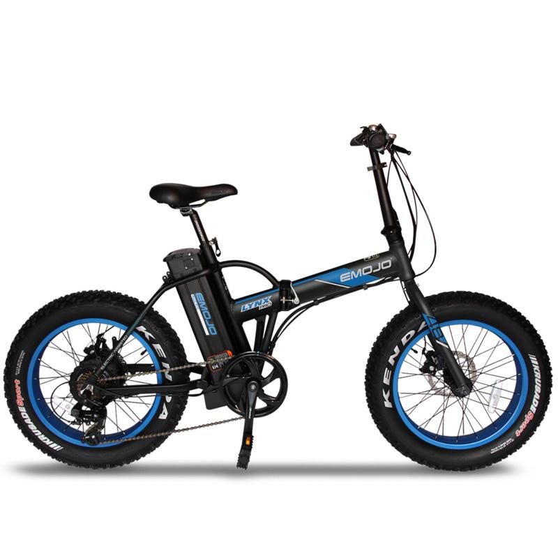 Emojo Lynx Pro Folding Electric Bicycle 48V 500W - Black/Blue