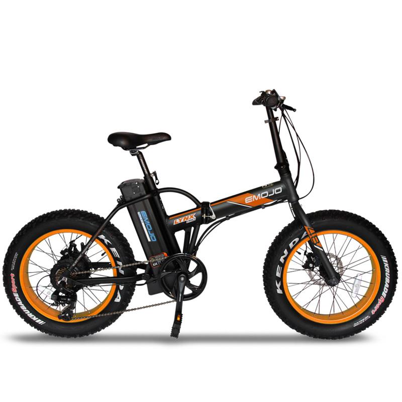 Emojo Lynx Pro Folding Electric Bicycle 48V 500W - Black/Orange