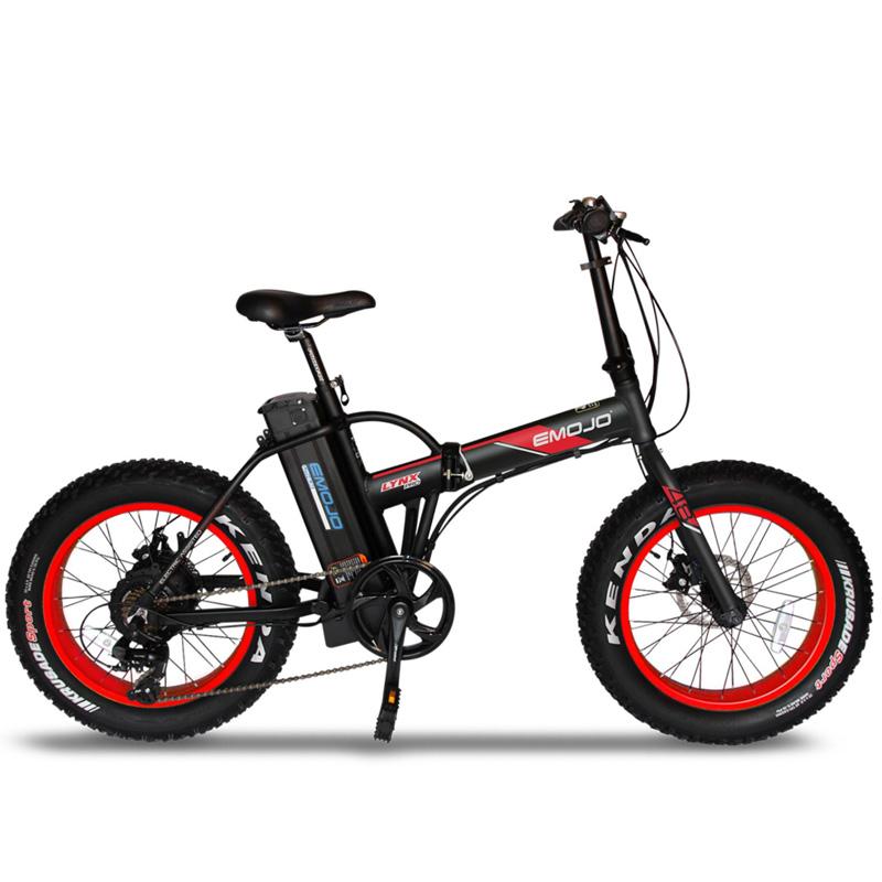 Emojo Lynx Pro Folding Electric Bicycle 48V 500W - Black/Red
