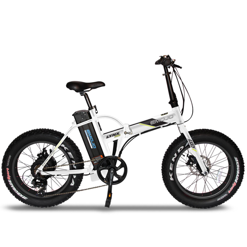 Emojo Lynx Pro Folding Electric Bicycle 48V 500W - Black/White