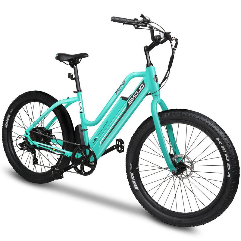 Emojo Panther Electric Step Thru Bicycle - Teal Green