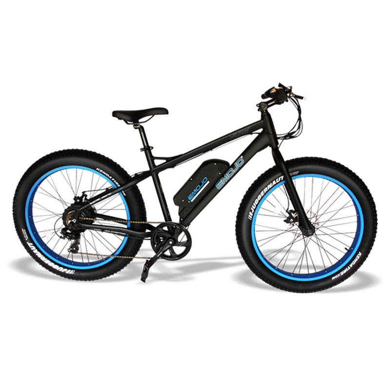 Emojo Wildcat Electric Mountain Bike - Black/Blue
