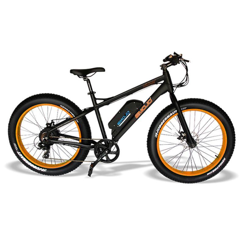 Emojo Wildcat Electric Mountain Bike - Black/Orange
