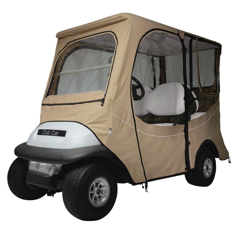 Fairway Golf - Club Car Precedent Golf Cart Enclosure - Long Roof - Light Khaki